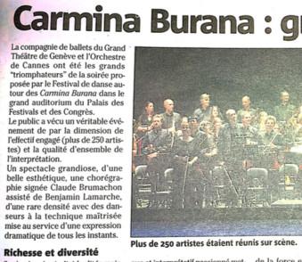 Carmina Burana-Cannes