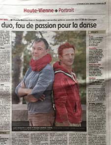 Le duo Brumachon-Lamarche en Limousin