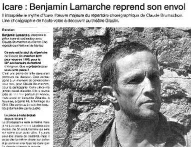 Icare – Benjamin Lamarche reprend son envol